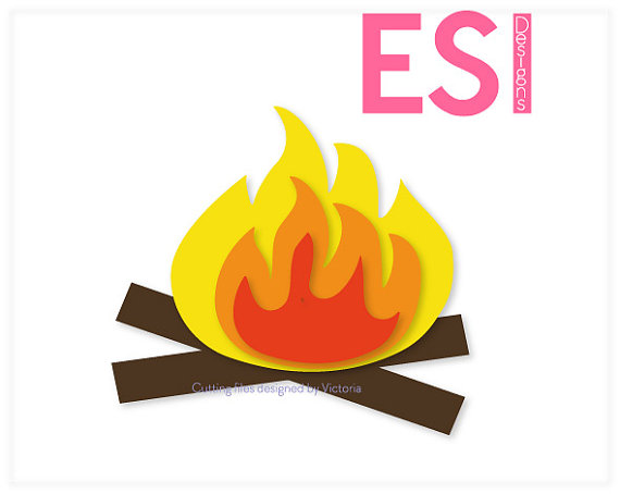 570x454 Camping Svg, Dxf, Eps, Campfire, Cutting Design Files For Use