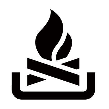 350x350 Fire Campfire Stencil Silhouette Cameo Projects