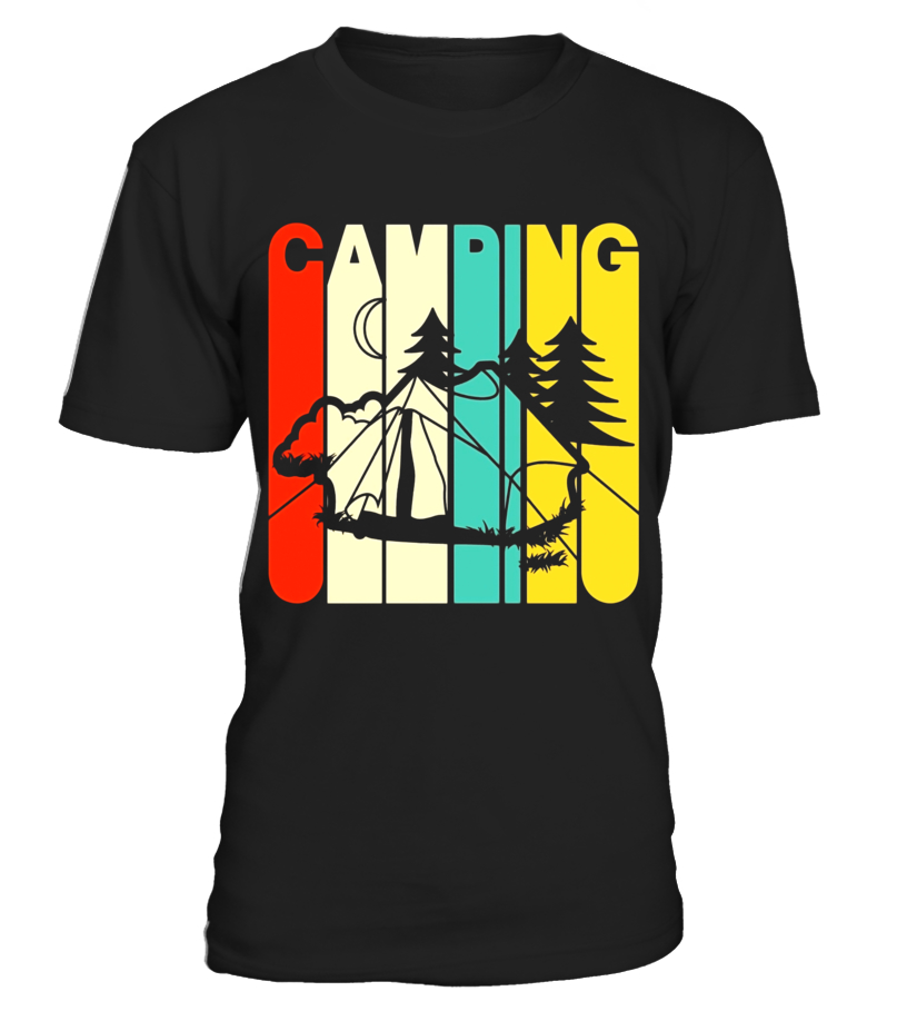 816x918 Vintage Style Camping Silhouette T Shirt