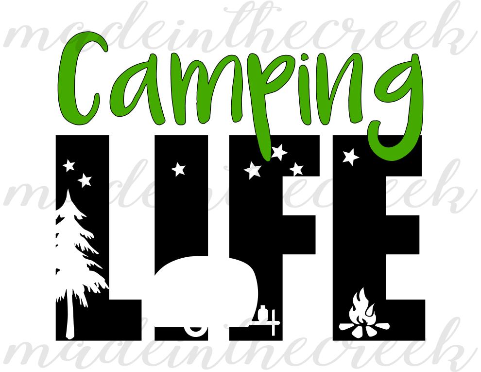 990x765 Camping Life, Camper, Outdoors, Summer, Design Bundles