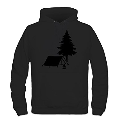 385x385 Shirtcity Camping Tent With Tree Silhouette Hoodie