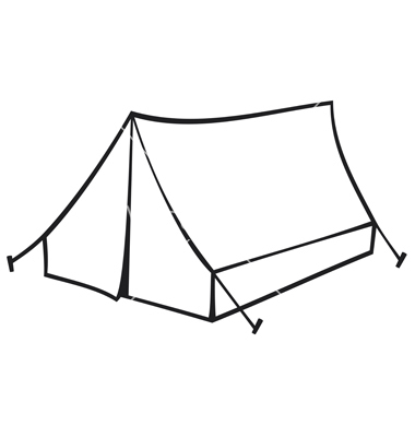 380x400 Tourist Tent For Travel And Camping Vector 1287278