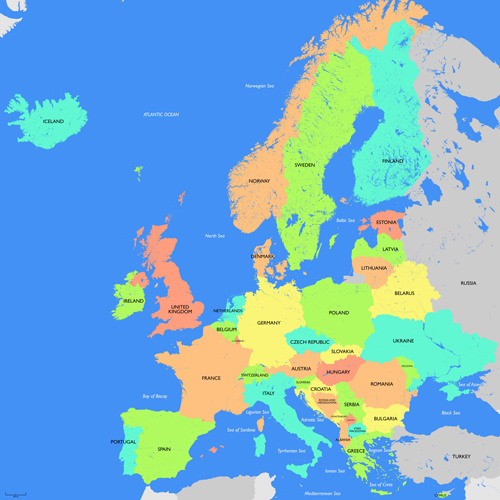 500x500 europe vector map free free vector download 2740 free vector
