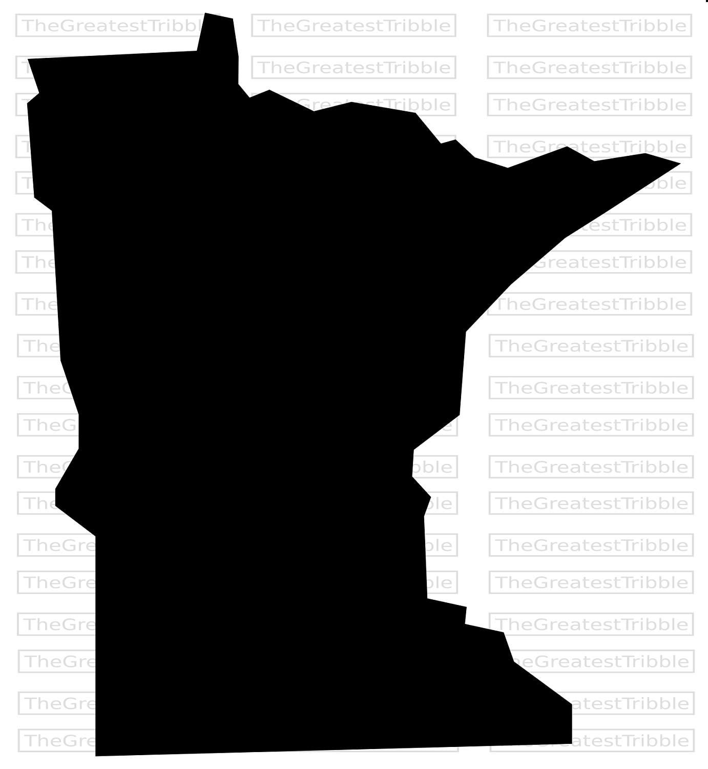 1382x1500 Minnesota State Map Eps Svg Png Jpg Vector Graphic Clip Art