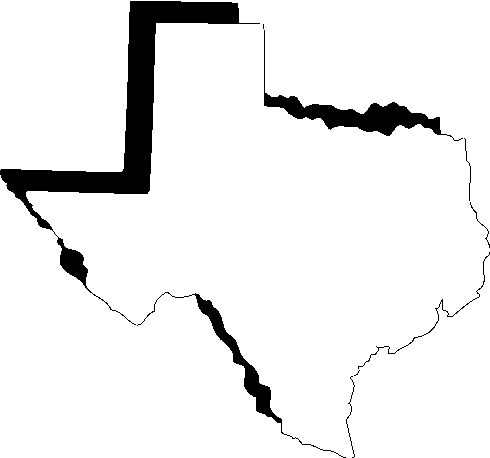 490x458 Texas Outline