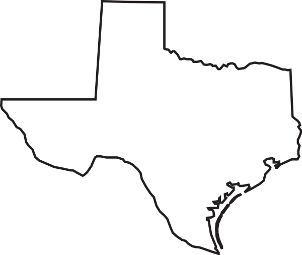 600x506 Texas Outline