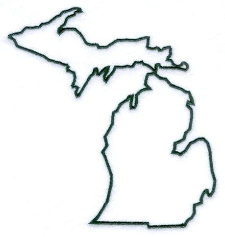 459x484 Maps Michigan State Map Outline Silhouette Vinyl Wall Decoration
