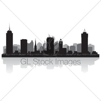325x325 Edmonton Canada City Skyline Vector Silhouette Gl Stock Images