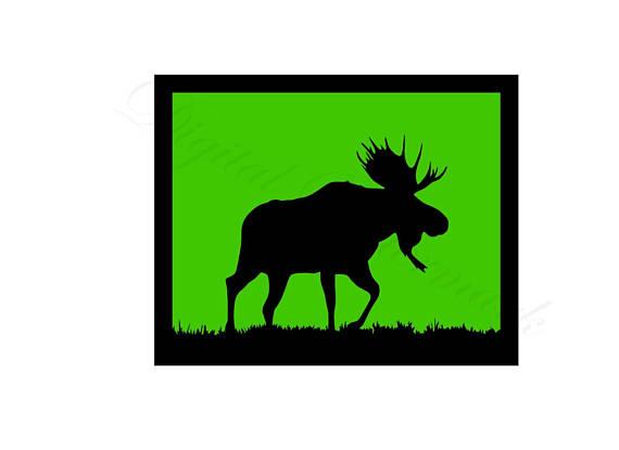 570x415 Moose Svg Amp Studio 3 Cut File Cutouts Files Logo Stencil