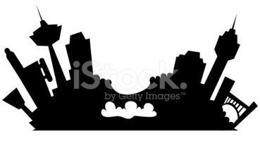 369x200 Niagara Falls, Canada Cartoon Silhouette Stock Vectors