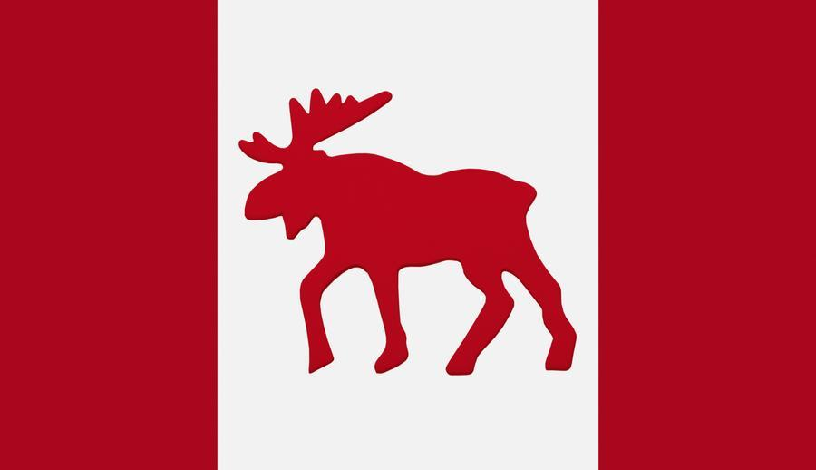 900x518 Moose Emblem On Canadian Flag