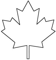 236x249 Canadian Maple Leaf Pattern. Use The Printable Outline For Crafts