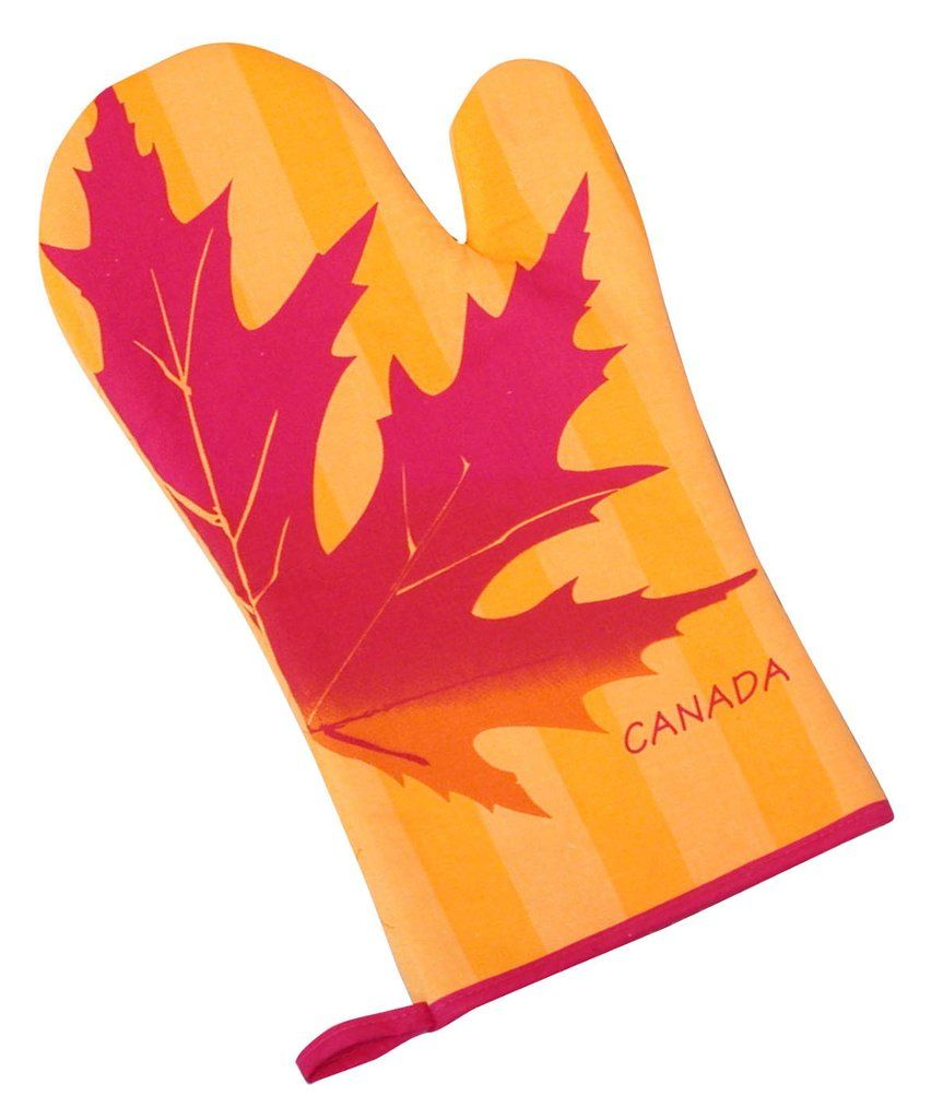 863x1024 Maple Leaf Silhouette Oven Mitt Kitchen Products