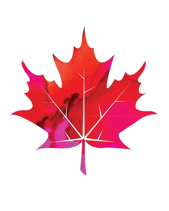570x711 Printable Leaf Art Print In Redpink, Alcohol Ink Patterned Leaf