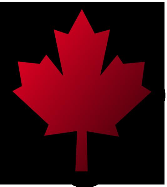 534x598 Canada Maple Leaf Pin Black Background Clip Art