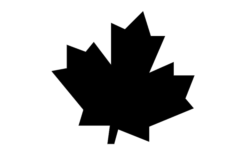 1002x633 Canadian Maple Leaf Dxf File Free Download