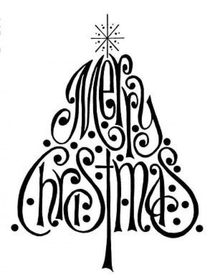 700x894 Christmas Tree Christmas Silhouettes Printable Merry Christmas
