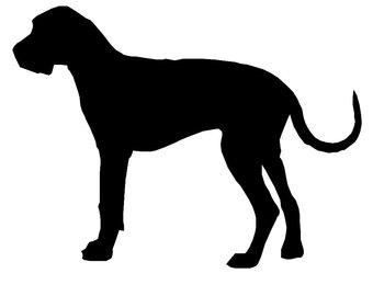 340x270 Shih Tzu Dog Silhouette Custom Die Cut Vinyl Decal Sticker