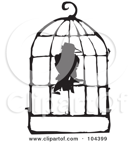 450x470 In A Cage Clipart