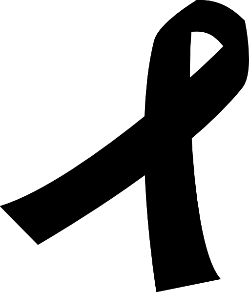 cancer ribbon silhouette at getdrawings com free for personal use rh getdrawings com purple awareness ribbon clipart awareness ribbon clipart black and white