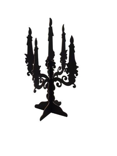 374x500 Black Cardboard Candelabra, Halloween Party Decoration, Pack Of 2