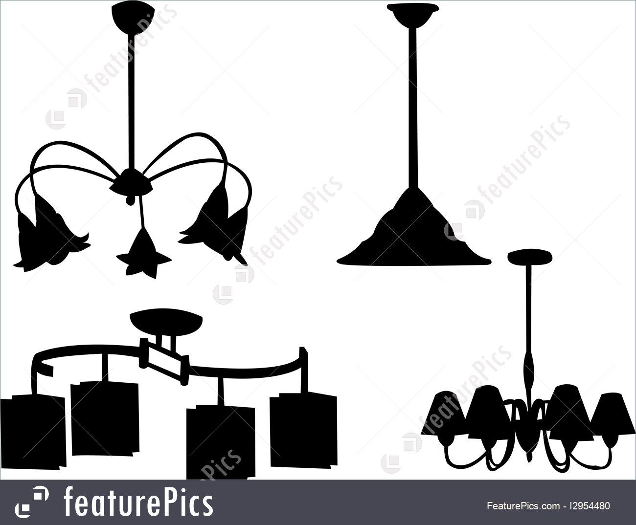 1300x1074 Chandelier Silhouette Illustration