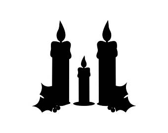 340x270 Black Flame Candle Etsy