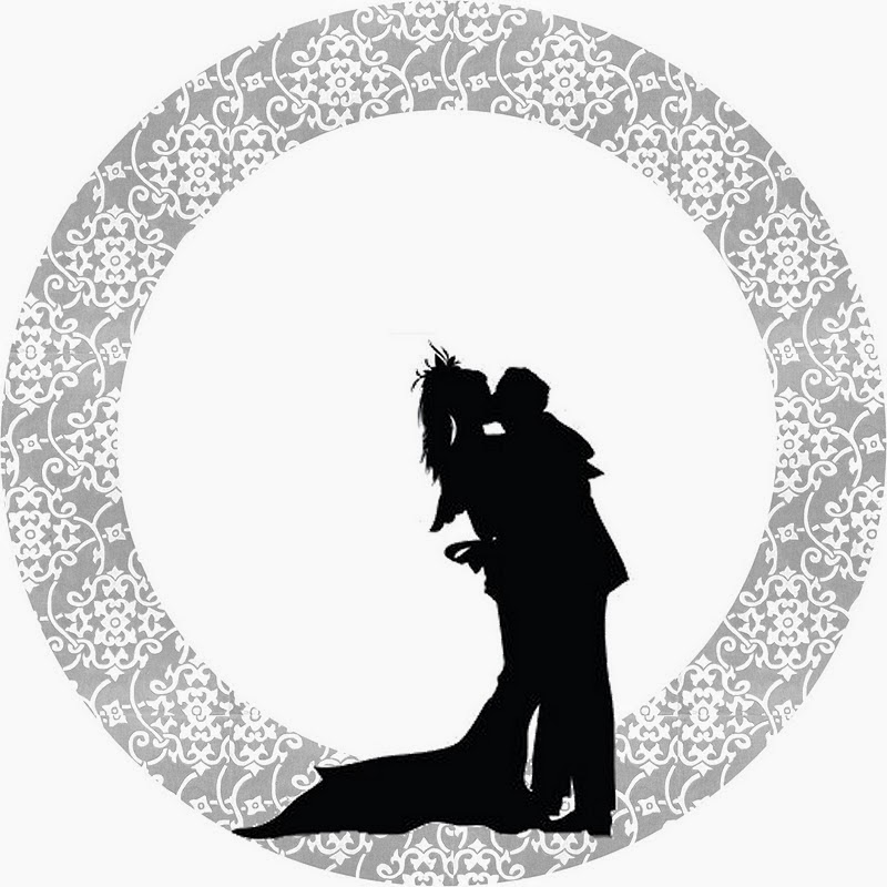 800x800 Wedding Couple Silhouette In Silver Free Printable Candy Bar