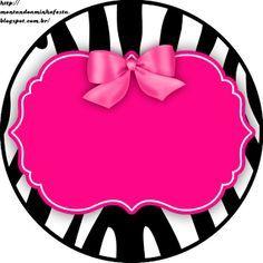 236x236 Zebra Y Rosa Etiquetas Para Candy Bar Para Imprimir Gratis