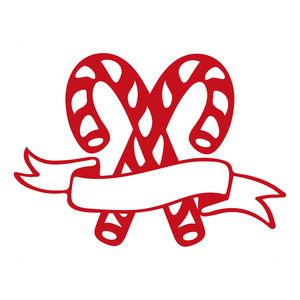 300x300 Candy Cane Scroll Silhouette Design, Candy Canes And Silhouettes