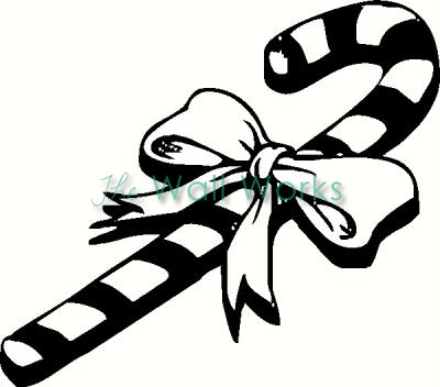 400x352 Candy Cane Wall Sticker, Vinyl Decal The Wall Works
