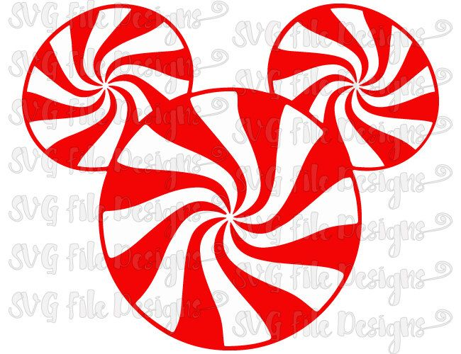650x500 Christmas Peppermint Candy Swirls Mickey Mouse Disney Layered