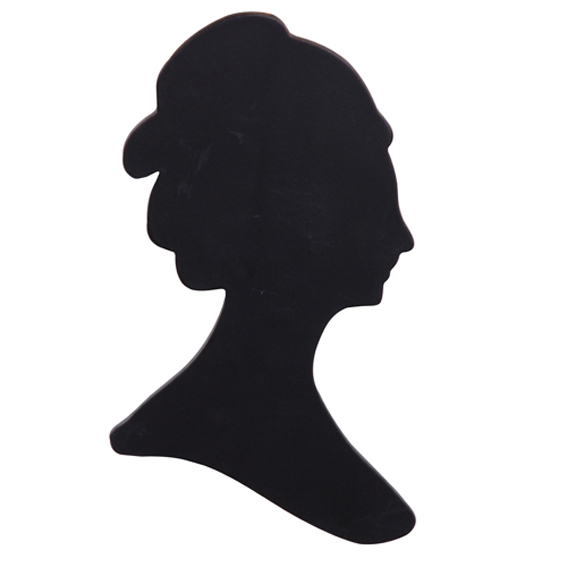 567x567 Victorian Lady Silhouette Wall Plaque