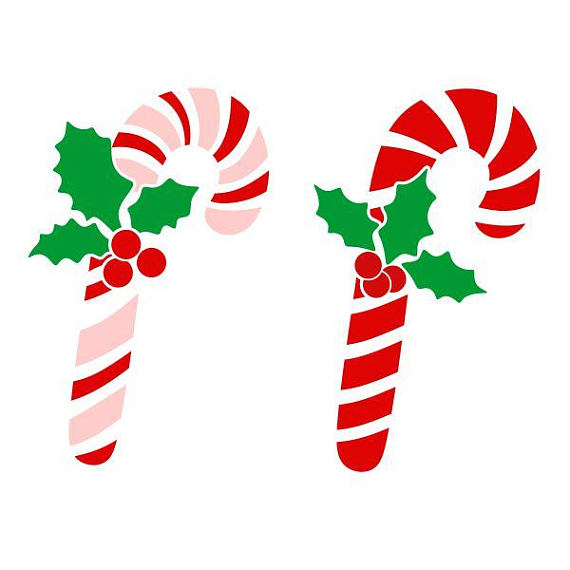 570x570 Candy Cane Christmas Cuttable Design Svg Png Dxf Amp Eps Designs
