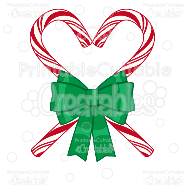 650x650 Candy Cane Heart Svg Cutting File Amp Clipart