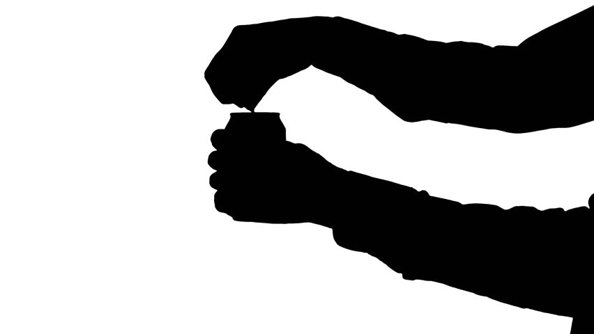 852x480 Moving Male Hands Unwrapping A Candy Moving Black Silhouette
