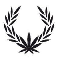 190x190 Marijuana Silhouette Premium Clipart