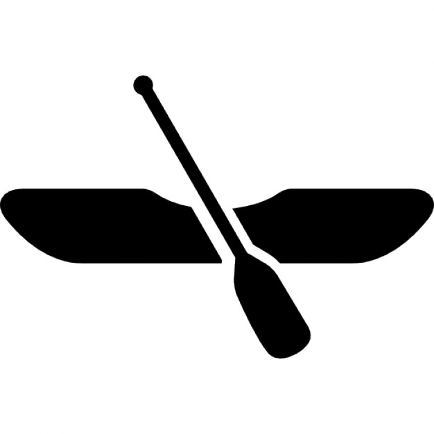 626x626 Canoe Boat With Rowing Icons Free Download