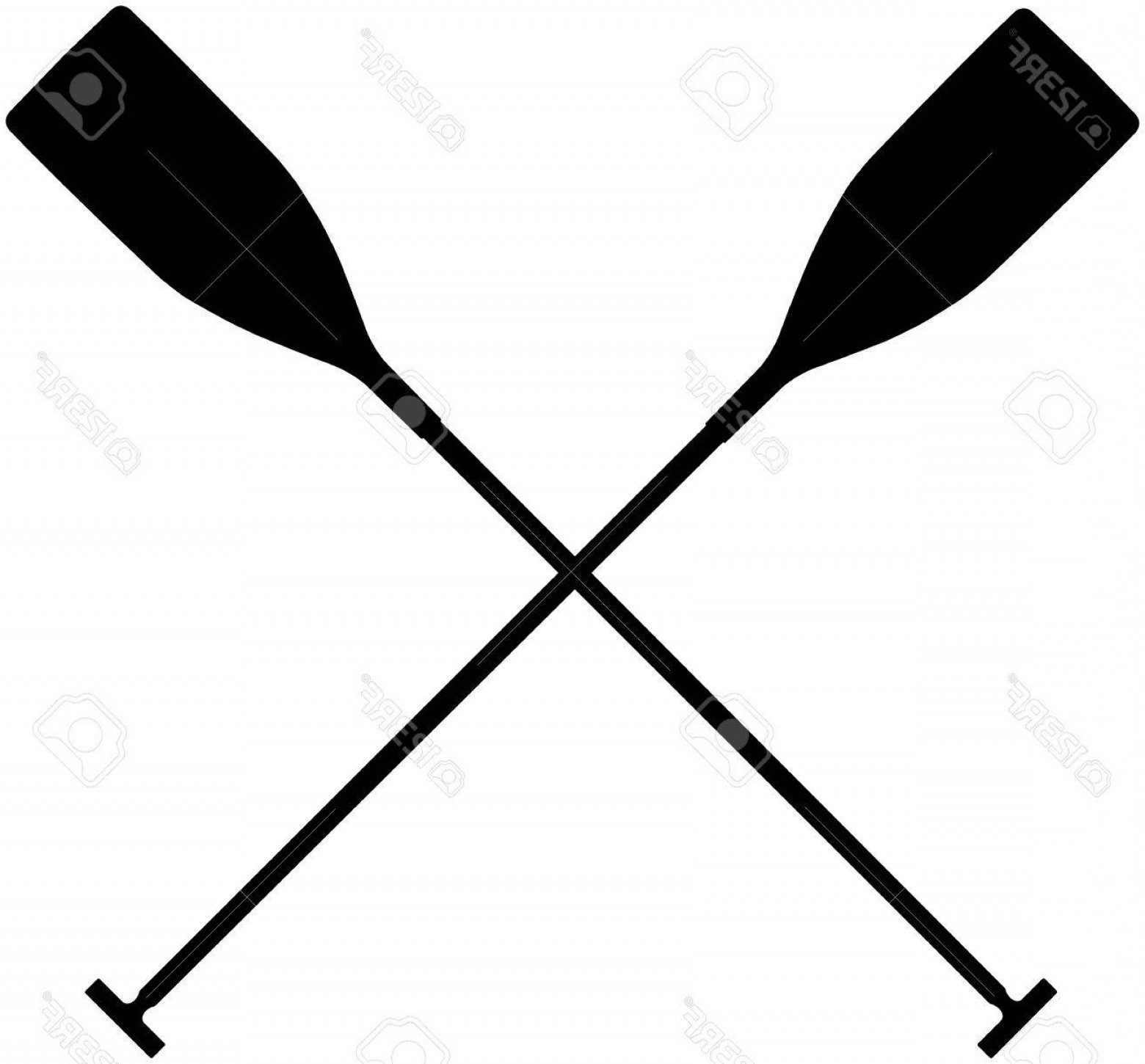 1560x1450 Crossed Canoe Paddle Vector Arenawp