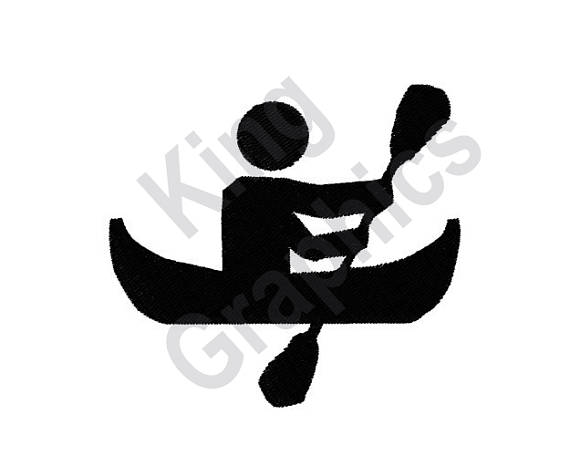570x456 Boating Silhouette Machine Embroidery Design Boat Canoe