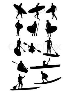 244x320 Silhouette Hobby And Sports Activities Canoe Surfing And Scuba