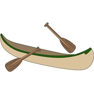 300x300 Canoe And Paddles Canoes, Silhouette Design And Silhouette
