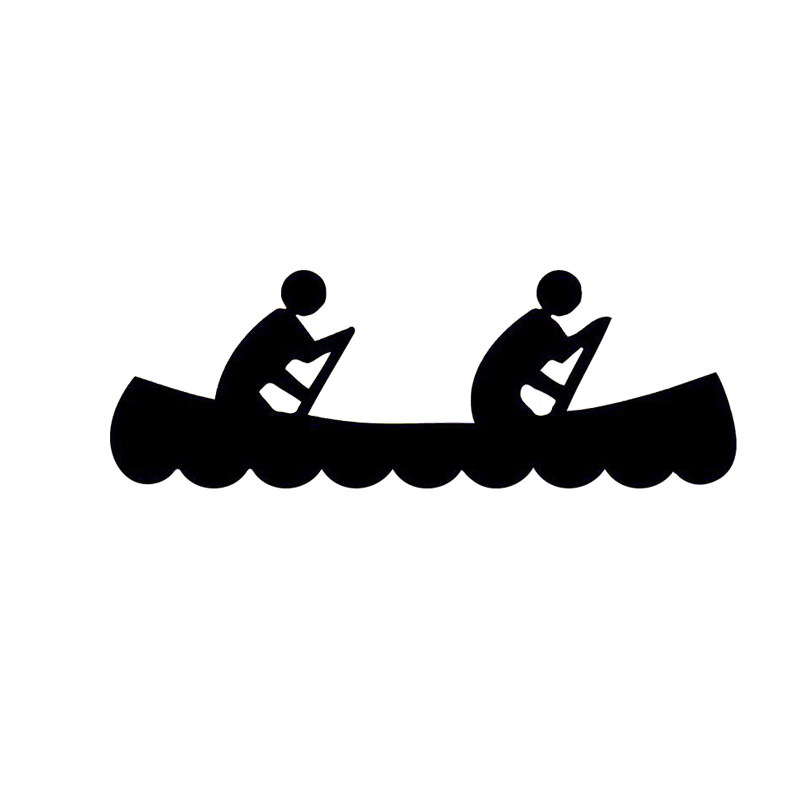 800x800 Creative 16.75.8cm Fun Race Car Decals Canoe For Two Vinyl Car