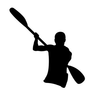 340x340 Free Silhouette Vector Icon, Water Sports
