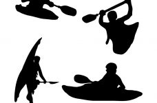 228x150 Kayak Silhouette Coloring Page 2019