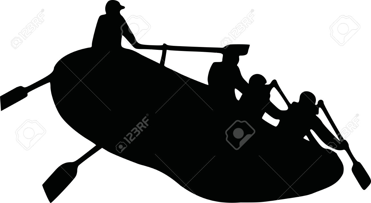 1300x713 Rafting Clipart Silhouette 3835432