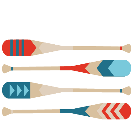 432x432 Silhouette Canoe Paddle Strokes Clipart