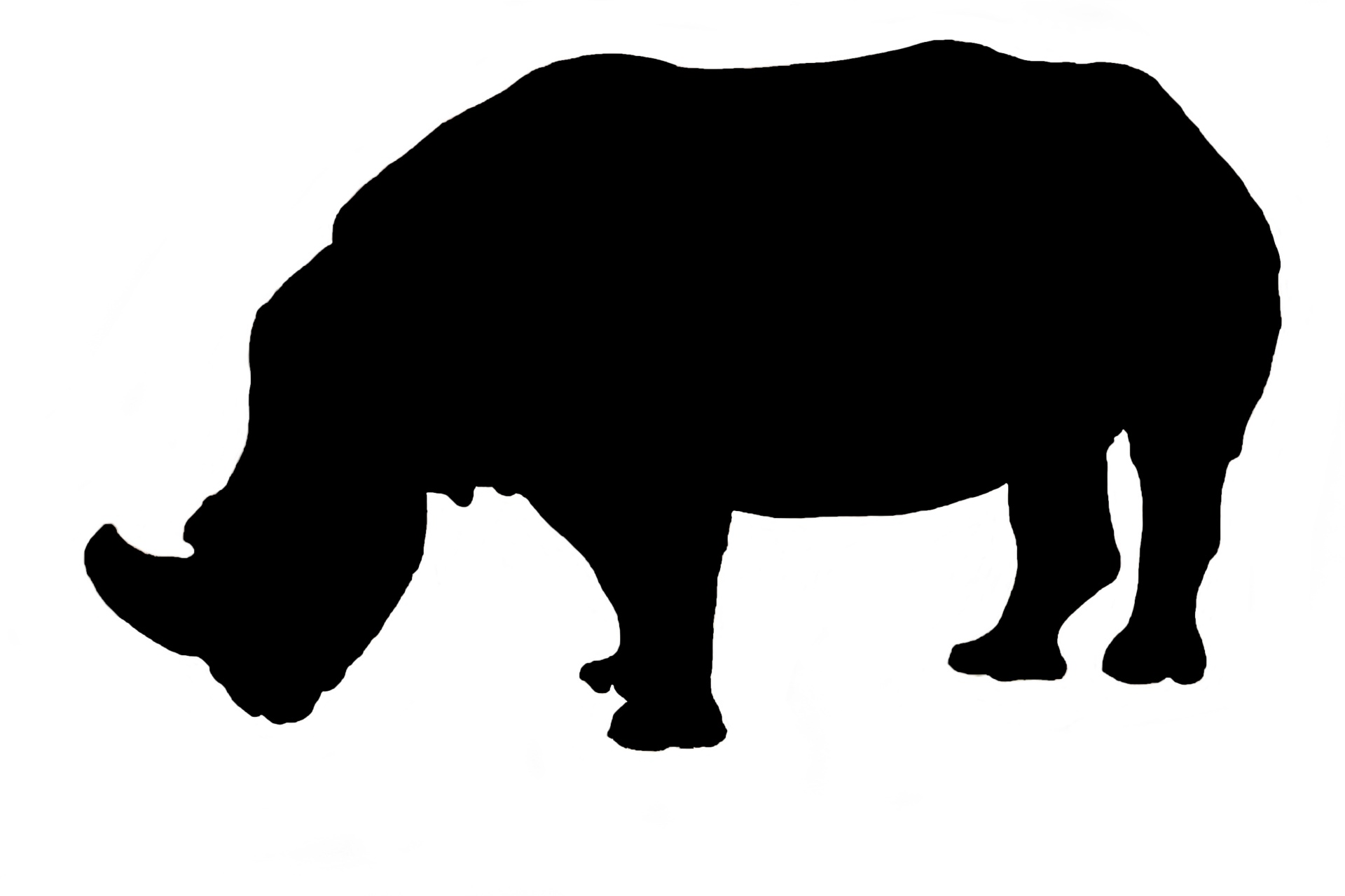 1920x1280 Rhino, Silhouette Free Stock Photo
