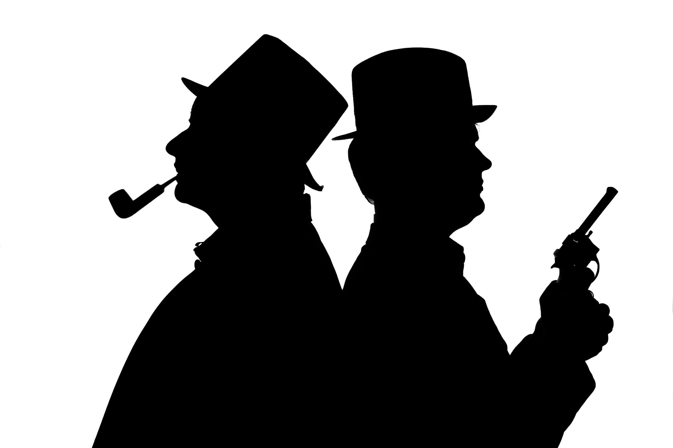 2304x1536 Sherlock Holmes And Doctor Watson Silhouette Profile Sh