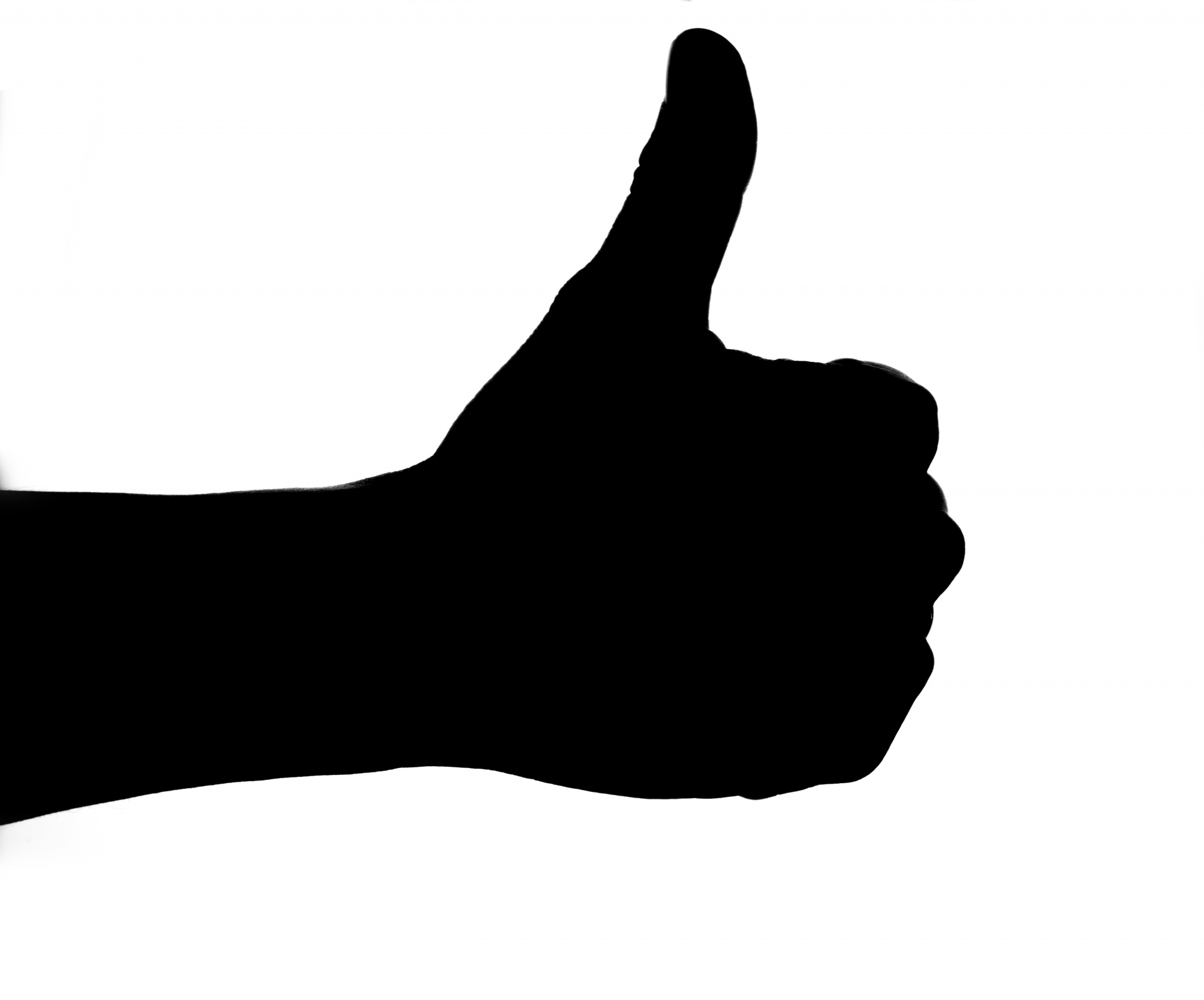 1920x1595 Silhouette Of Thumb Up Hand Free Stock Photo